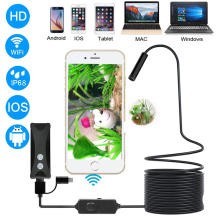 WIFI Endoscope Borescope For Android IOS Iphone USB Endoscope Mini Waterproof Camera 8MM Hard Cable Wireless endoscopio usb
