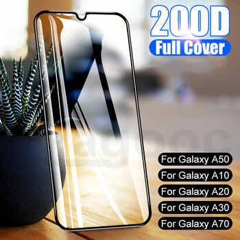 200D Protective Tempered Glass on For Samsung Galaxy A10 A20 A30 A40 A50 A70 A40S A20S A20E Screen Protector Safety Film Case