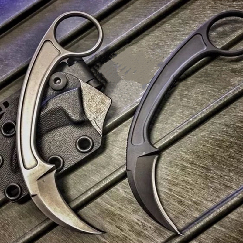 TOP QUALITY Pocket Tactical <font><b>Karambit</b></font> <font><b>CsGo</b></font> Claw Knife Outdoor Camping Survival in the Jungle Battle Fixed Blade Knives image