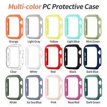 Moda cor caso difícil para apple watch se capa série 6 5 4 3 fosco pára-choques 40mm 44mm 38mm 42mm para iwatch escudo protetor