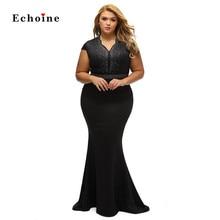 цена на Women Sexy Rhinestone Front Bodice Scalloped Neckline Plus Dress Bodycon Diamonds Plus Size Mermaid Floor-Length Evening Vestido