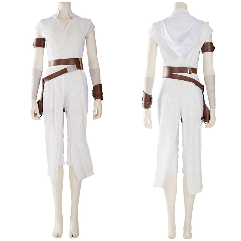 Star Rey Cosplay Costume The Rise of Skywalker Rey Costume Women Outfit Full Set Halloween Carnival Costumes