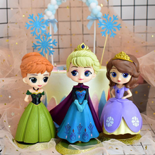 цена на 10 Styles Q Posket Sophia Snow Queen Elsa & Anna figure Toys Dolls Aurore 10-17cm PVC Anime Dolls Figures Collectible Model Kids