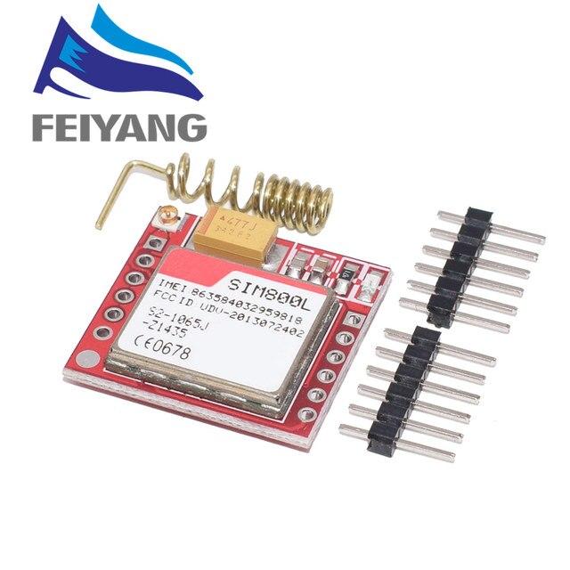 10 шт. самый маленький SIM800L GPRS GSM модуль карта Micro SIM Core плата четырехдиапазонный TTL последовательный порт