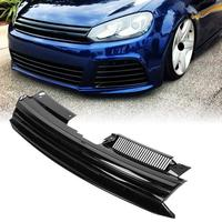 Hex Mesh Grille Hood Grill for VW Golf MK6 Jetta 2010 2014 For GTI Style Badgeless