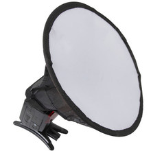 20cm Lightweight Flash Professional Portable Round Photo Diffuser Universal Home Softbox Easy Install Photography For Canon(China)