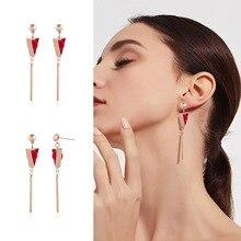 NEW Gold Metal Tassel Earrings for Women Long triangle Pendant Earings Fashion Jewelry Statement Geometric