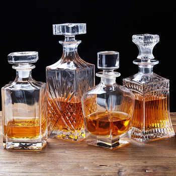 Bouteille de Whisky européen 500-700ml   Bouteille déveil, vin rouge, bouteille déveil en cristal sans plomb, Vodka esprit, bouteille versante Bar