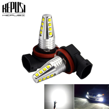 2x H8 H11 H9 White Led Fog Lamp Bulb Auto Car Motor Truck LED Bulbs Driving Lights Daytime Running Light DRL Lamp 12V 24V 2pcs car led fog lamp h11 bright daytime running light auto led parking bulb driving light headlight drl source xenon lamp