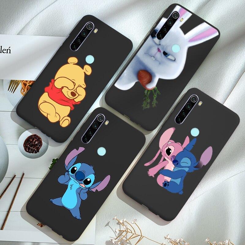 Black Silicone Cute Cartoon Case FOR Xiaomi Redmi Note 8 PRO 8T 8 T 7 6 5 Plus 5A 6A 7A 8A Mi 8 Lite K20 PRO Mi 9T A3 A2 Cover