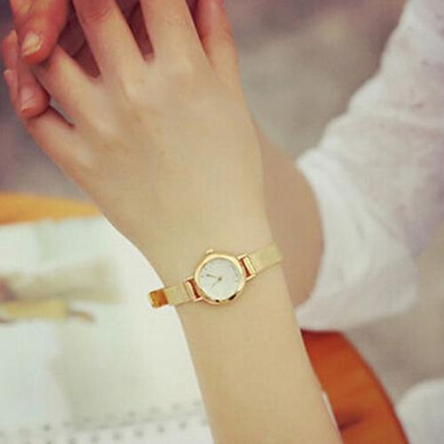 Ladies Watch Women's Fashion Clock Mesh Fine Alloy Band Rhinestone Dial Quartz Bracelet Wrist Watch New Reloj Mujer