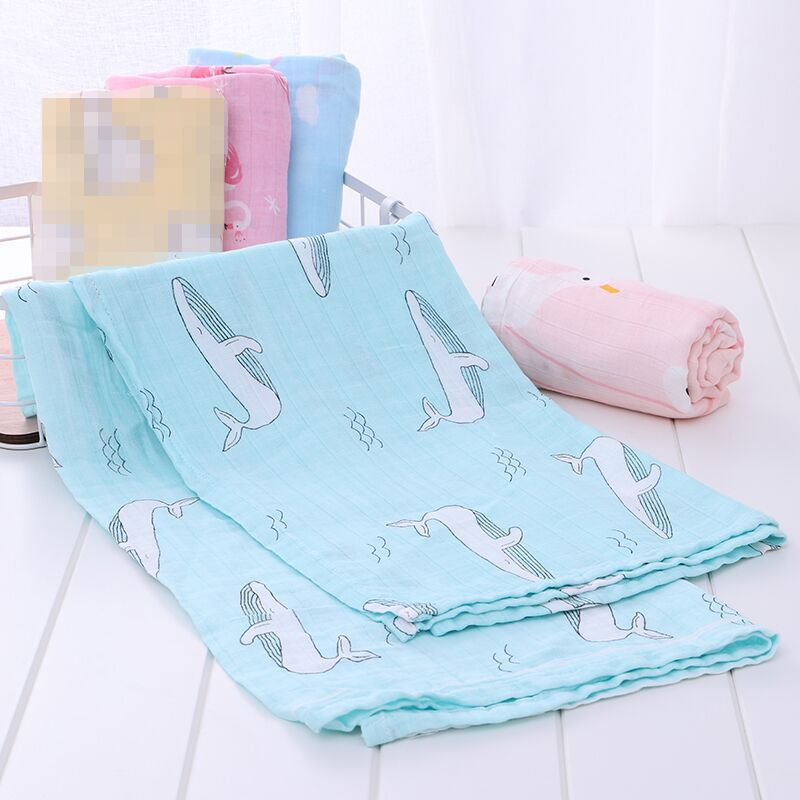 Bamboo Baby Blanket Soft 70% Bamboo 30% Cotton Newborn Swaddle Muslin Swaddle Blanket Baby Infant Toddler