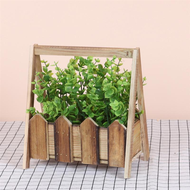 Palisade Decor Pot Basin Plant Ornament Decor Simulation Flower Bonsai Fake Flower Ornament For Living Room Table Home Store|Flower Pots & Planters|   - AliExpress