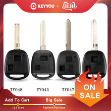 KEYYOU 2BT TOY41/TOY43/TOY47/TOY48 Remote Car Key Fob Case Shell for Toyota Camry Rav4 Corolla Prado Yaris Tarago Cruiser Land(China)