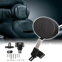 Motorcycle Adjustable New Plug In Driver Rider Seat Backrest Kit For Harley Touring Electra Road Street