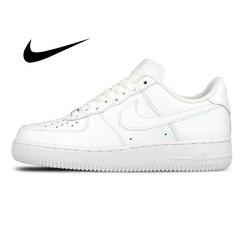 Originale Autentico Nike AIR FORCE 1 AF1 degli uomini di Scarpe Da Skateboard di Moda All'aperto Classiche Scarpe Sportive Traspirante 315122-111