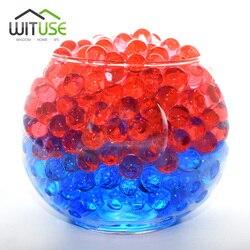 20000pcs 6mm Crystal Soil Mud Hydrogel Gel Kids Children Toy Water Beads Growing Up Orbiz Water Balls Wedding Home Decor Potted