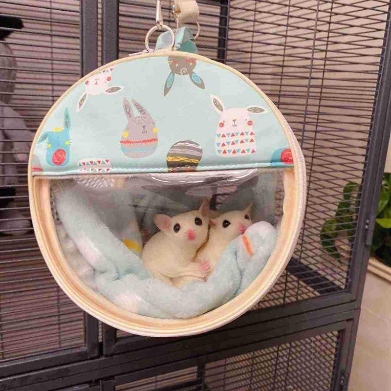 Hamster Carrier Bag Small Animal Portable Sugar Glider Outgoing Travel Bag