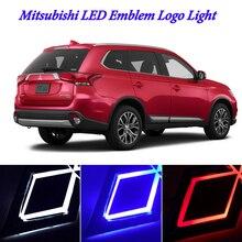 1 шт. Автомобильный светодиодный фонарь Передняя Автомобильная подсветка логотипа 5D автомобильный значок авто светодиодный свет лампы EL холодные лампы для логотипов для Mitsubishi ASX для CUV