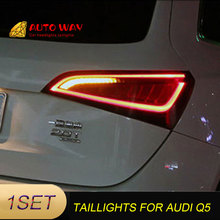 Car Styling taillight tail lights Case for Audi Q5 taillight 2009 2015 LED Tail Lamp rear trunk lamp Audi Q5 taillights