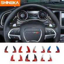 SHINEKA Innen Moulding für Dodge Challenger Auto Lenkrad Shifter Paddel Dekoration Zubehör für Dodge Durango 2014 +