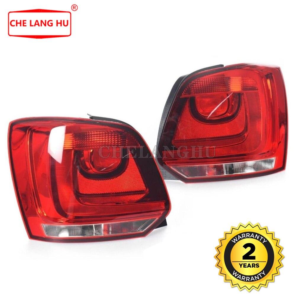 Fit For VW Polo 6R Hatchback 2009 2010 2011 2012 2013 2014 자동차 스타일링 후면 왼쪽 오른쪽 테일 라이트 램프 하우징 없음 전구