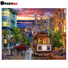 Dpsprue Full Square/Round Diamond Painting Kit Cross Stitch City Bus Diamond 3D Embroidery DIY 5D Moasic Gift DP212(China)