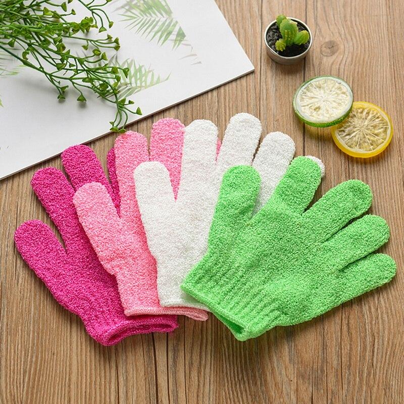 Bath Gloves Foam Bath Skid Resistance Body Massage Cleaning Towel Shower Gloves Towel Exfoliating Wash Skin Spa