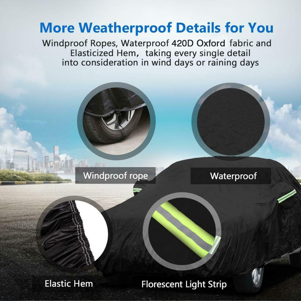 Image 4 - 420D Rain Proof UV SUN Snow Protector Dust Resistant Waterproof Auto Sedan Saloon Hatchback SUV Full Car Cover Coat Shade-in Car Covers from Automobiles & Motorcycles
