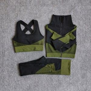 Frauen Fitness Sport Yoga Anzug Nahtlose Frauen Yoga Sets Langarm Yoga Kleidung Weibliche Sport Gym Anzüge Tragen Running Kleidung| |   -