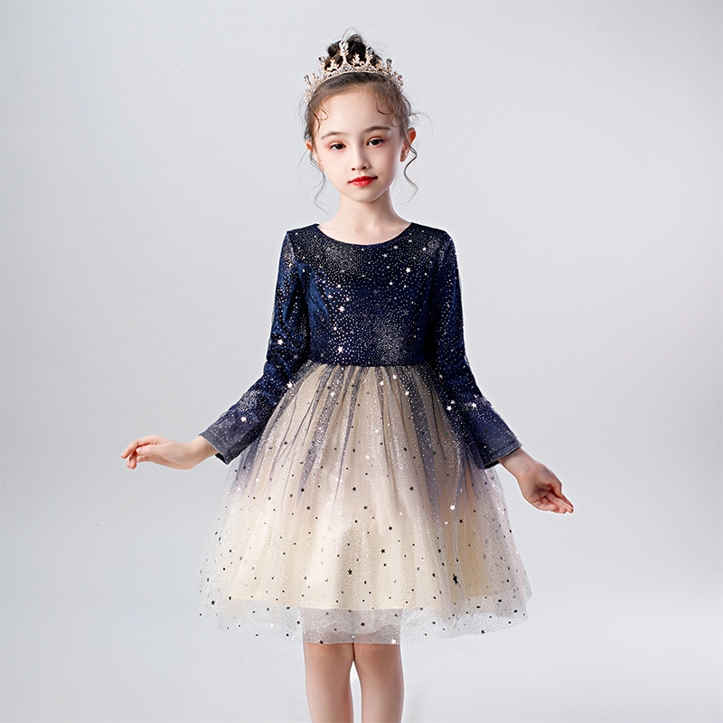 New Children's Princess Party 2019 Performing Dance Star Dress For Birthday Party Girl Baptist Eucharist Party Princess Dress