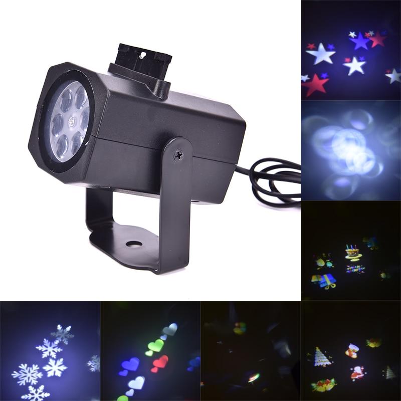 Waterproof 6 Pattern Led Christmas Halloween Lights Snowflake Projection