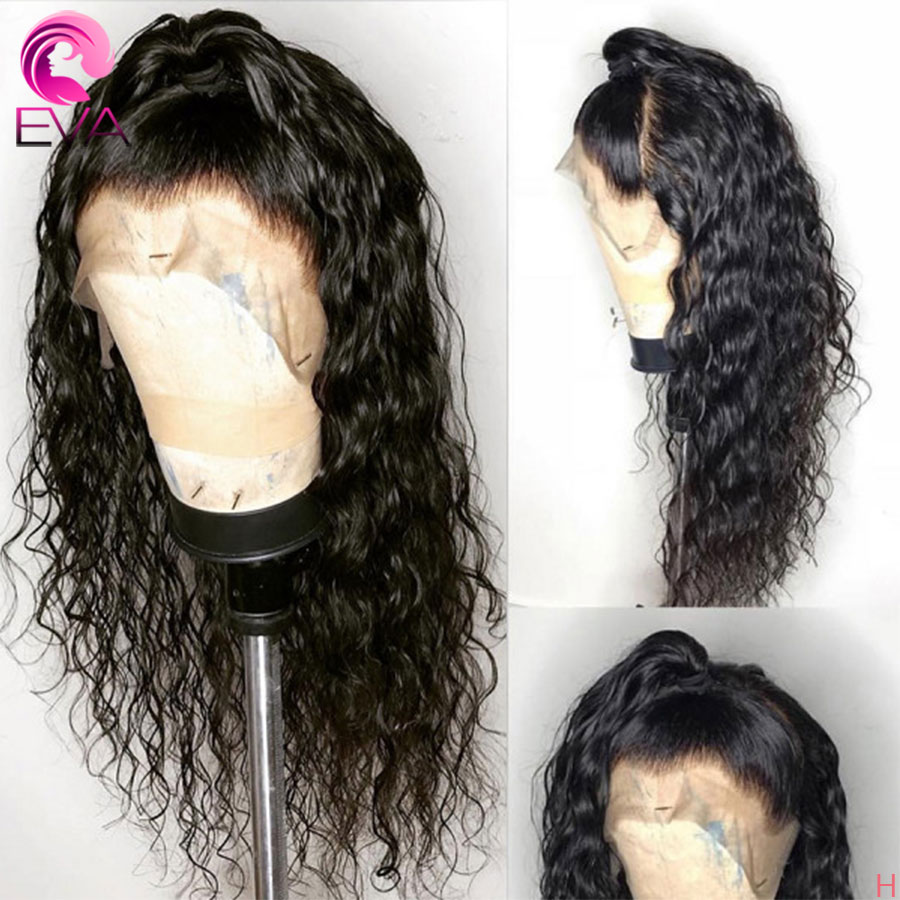 Eva Hair 360 Lace Frontal Wigs Pre Plucked With Baby Hair 180% Bleached Knots Natural Wave Remy Human Hair Wigs For Black Women