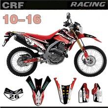 GRÁFICOS & FUNDOS CRF250L DECALQUE Kit para Honda 2010 2011 2012 2013 2014 2015 2016 CRF 250L 10 16