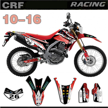 GRAPHICS & BACKGROUNDS DECAL STICKERS Kit for Honda CRF250L 2010 2011 2012 2013 2014 2015 2016 CRF 250L 10 16