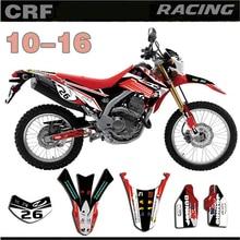 مجموعة ملصقات الرسومات والخلفيات لـ Honda CRF250L 2010 2011 2012 2013 2014 2015 2016 CRF 250L 10 16