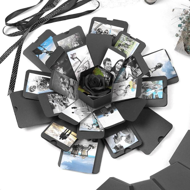 Surprise Hexagonal Exploding Boxes Handmade Birthday Gifts Perfume Cosmetic Photo Album Customization Anniversary Gifts