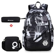 Brand oxford fabric boys children school bags backpack for teenagers pencil case book bag boy one shoulder schoolbag(China)