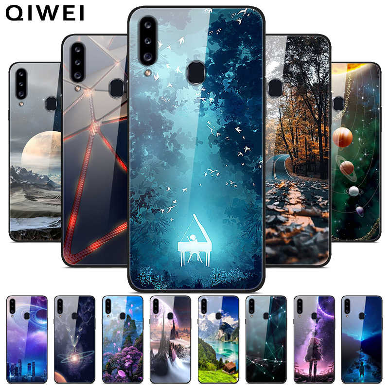 for samsung a20s case tempered glass hard back cover for samsung galaxy a20s a 20s a20 s a20e phone cases silicone bumper coque