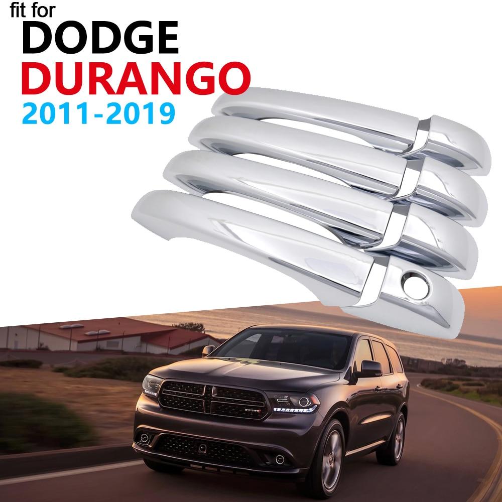 Luxurious Chrome Handle Cover Trim Set For Dodge Durango MK3 2011~2019 Accessories Car Stickers 2012 2013 2014 2015 2016 2017