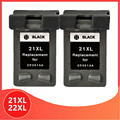 2x черный 21 22 XL сменный картридж для принтера для hp 21 22 для hp 21 для hp 22 21XL 22XL с чернилами hp Deskjet F2180 F2280 F4180 F380 380 принтер
