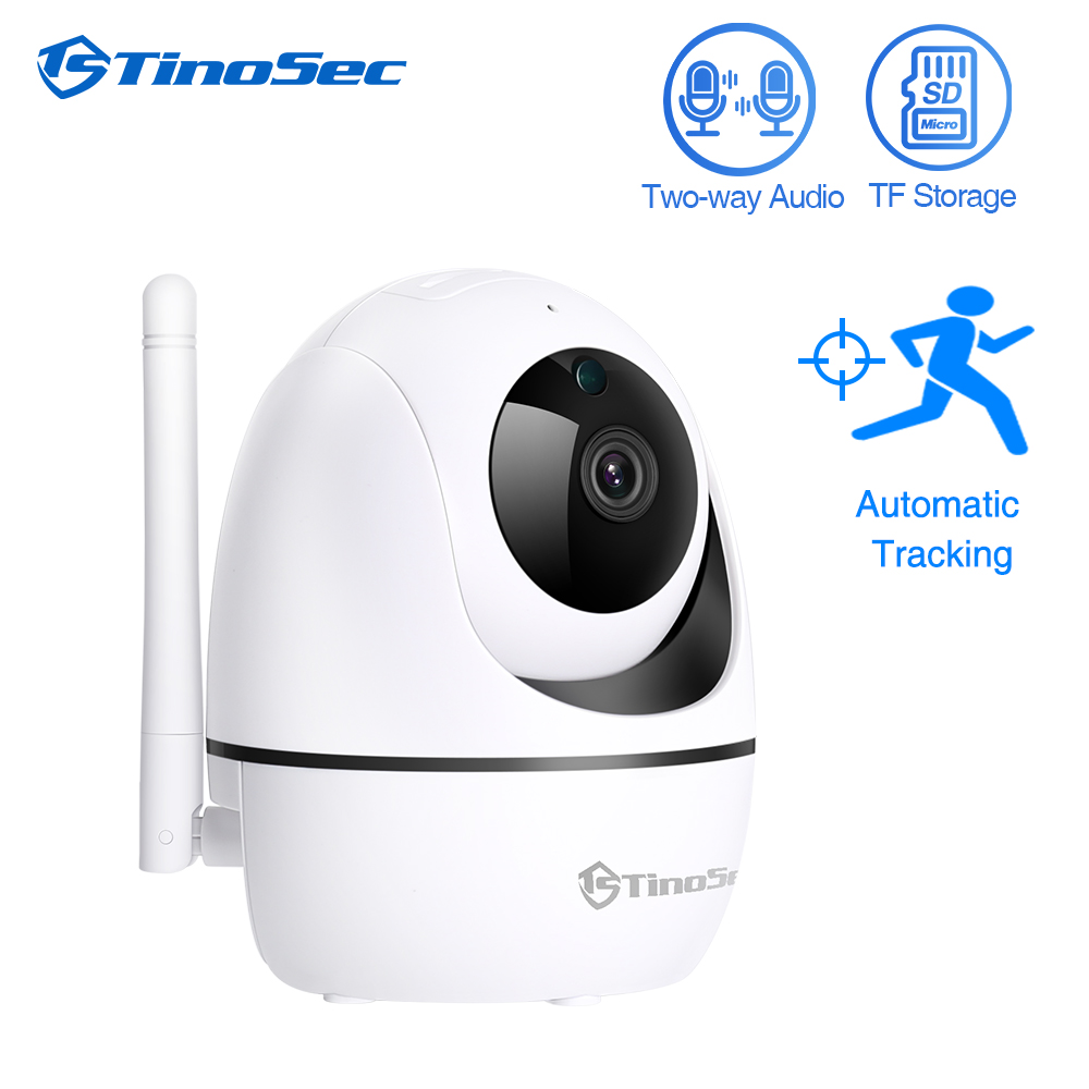 TinoSec 1080P Full HD Wireless IP Camera Wifi CCTV Camera Two Way Audio Surveillance Camera Auto Tracking Camera SD Card Storage