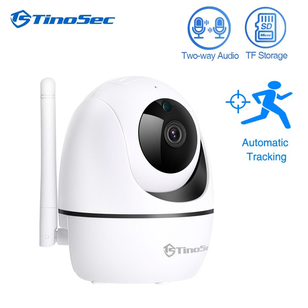 TinoSec 1080P Full HD Wireless IP Camera Wifi CCTV Camera Two Way Audio Surveillance Camera Auto Tracking Camera SD Card Storage