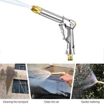 Wysokociśnieniowa myjnia samochodowa Spray myjnia samochodowa narzędzia pistolet na wodę pod wysokim ciśnieniem metalu pistolet na wodę ogród strumień wody pod ciśnieniem myjka ciśnieniowa tanie i dobre opinie Miedzi Stop Finger Grip