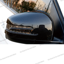 Lsrtw2017 Abs Car Rearview Cover for Mercedes Benz M Class GLE GLS W166 X166 2013 2014 2015 2016 2017 2018 2019 Carbon Fiber