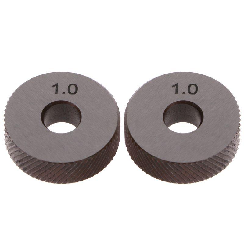 2pcs 1.0mm Diagonal Linear Knurl Wheels Knurling Knurler Tool Pitch 1.0/1.2/1.8/3.0mm