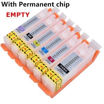 Refill PGI-580 cli 581 Empty refillable ink cartridge permanent chip For canon TS8150/TS8151/TS8152/TS8250/TS8251/TS9150/TS9155