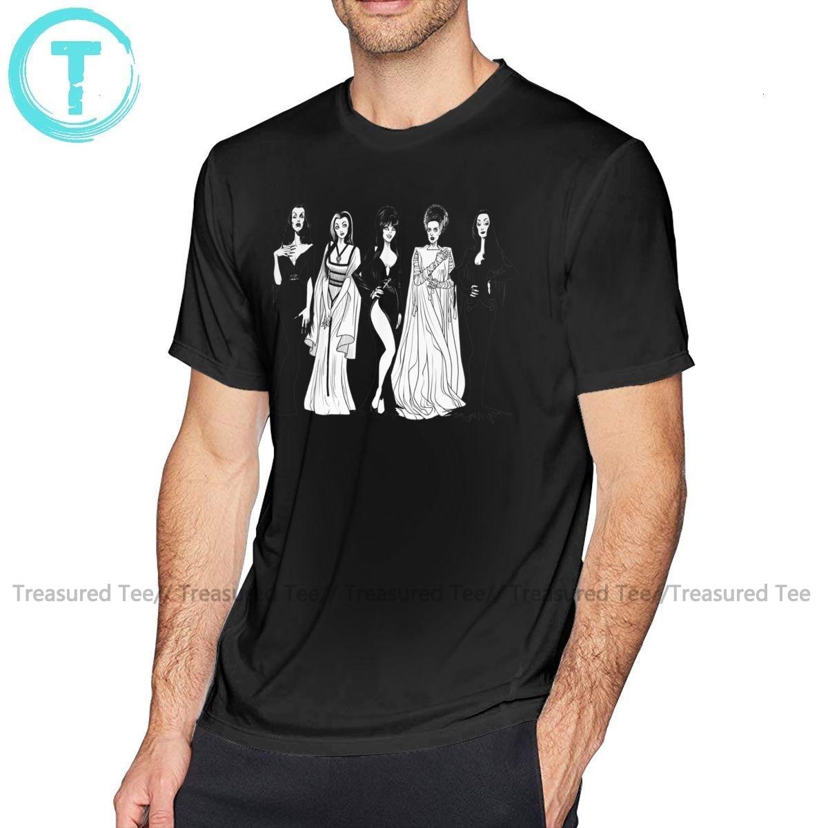 Elvira T Shirt Sisterhood T-Shirt Cute Cotton Tee Shirt Plus Size Print Men Beach Short Sleeve Tshirt