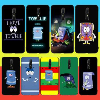 HPCHCJHM New towelie episode Anti-dirty Cover Black Soft Shell Phone Case For Oppo A5 A9 2020 Reno Z Realme5Pro R11 case image