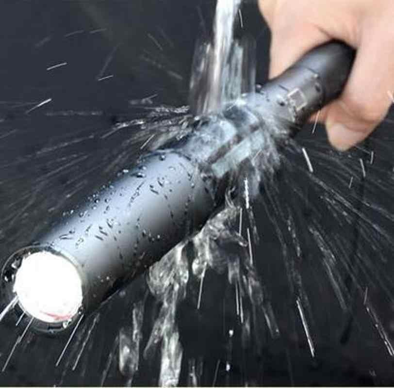 مضرب بيسبول إطالة مصباح ليد جيب 350 لومينز السوبر مشرق باتون الشعلة للطوارئ والدفاع عن النفس ، مجهزة البطارية
